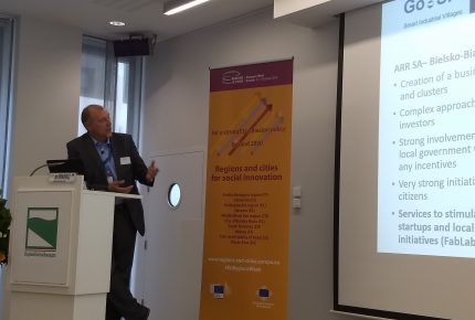 Mr Jan Sienkiewicz - the presentation of the project Go SIV during EWRC, 11th October 2018, Brussels
